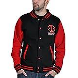 Deadpool Deadpool - Logo Cazadora tipo universitario negro/rojo S