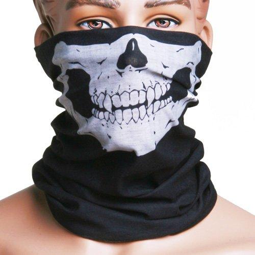 JenNiFer Berretto Da Motociclista Con Maschera Cranio