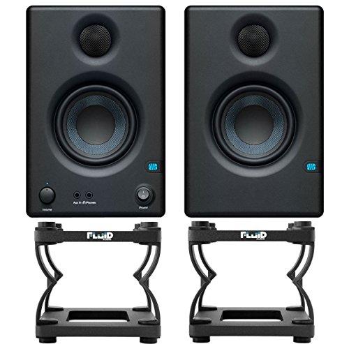 Presonus Eris 4.5 Studio Monitor-Boxen + Fluid DS5 Tisch-Stative