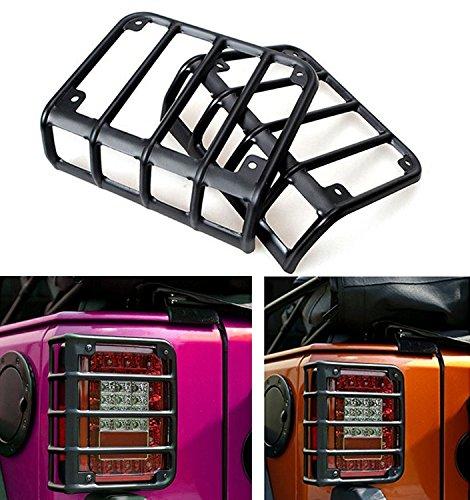 dqdz matt schwarz Rugged Style Rücklicht Cover -Paar (Rückleuchten Jeep Wrangler)