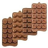 Homedge Truffle Mold, set di 4confezioni food grade silicone antiaderente Jelly Chocolate Candy Ice stampi