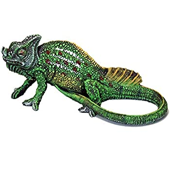 "Dekofigur grüner Leguan /""Marvel/"" Tierdeko Echse Iguana Gartenfigur Terrarium Fig"