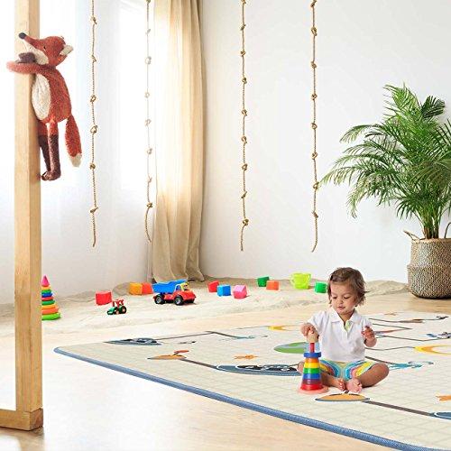 Baby Vivo Esterilla Alfombra Infantíl para Jugar Niños Bebés Dobles Varios Diseños Alfabeto Playmat Gatear Andar Arco de Juego Foam PEX Antideslizante 200 x 180 cm - Galaxy