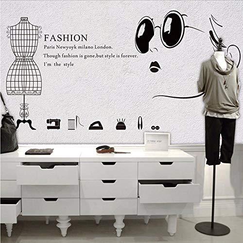 CZHCFF 3D Wandbild Europäischen Kostüm Tapete Bekleidungsgeschäft Bürogeschäft Ankleidezimmer Hintergrund Holz Wort Tapete Wandbild