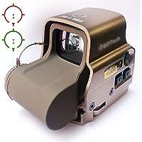 Airsoft táctico olográfica 558 notebookbits rojo y verde Láser DE punto DE mira (interruptor lateral)