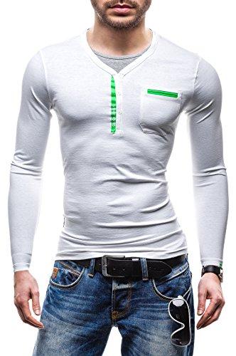 BOLF Longsleeve Sweatshirt Sweater GLO-Story 6161 Weiß XXL [1A1] |