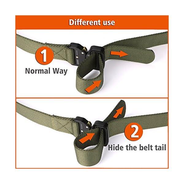 FEIKCOR Cinturón Táctico Cinturón Resistente para Hombres Cinturón Militar DE 1,5 '' Cinturones de Fijación Rápida… 8