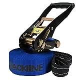 ALPIDEX Slackline 10 m Kinderslackline (2 t), Farbe:I Love Slackline. blau