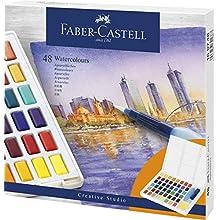 Faber-Castell Watercolour Paints, Multi, 48