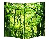 A.Monamour Natur Landschaft Grüne Bäume Wald Bild Drucken Wand Hängen Tapisserie Wand Wandmalerei Kunst Décor Yoga Meditation Matte Bettdecke Für Schlafsäle Wanddekor Wohnaccessoires Deko Wandteppiche