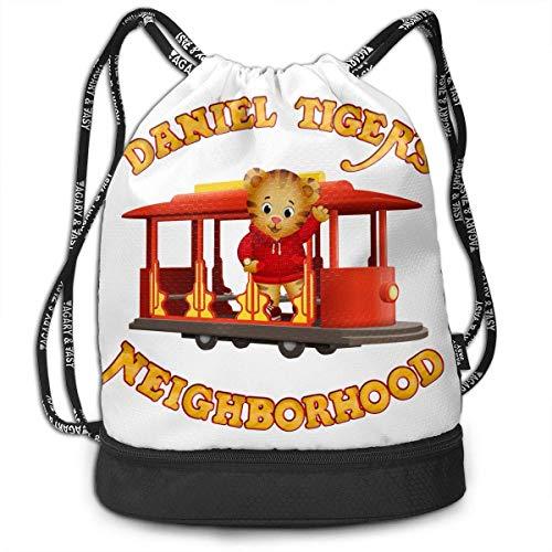 Rucksäcke,Sporttaschen,Turnbeutel,Daypacks, Daniel Tiger's Neighborhood Drawstring Bag Bundle Backpack School Backpack Sport Bag for Men & Women