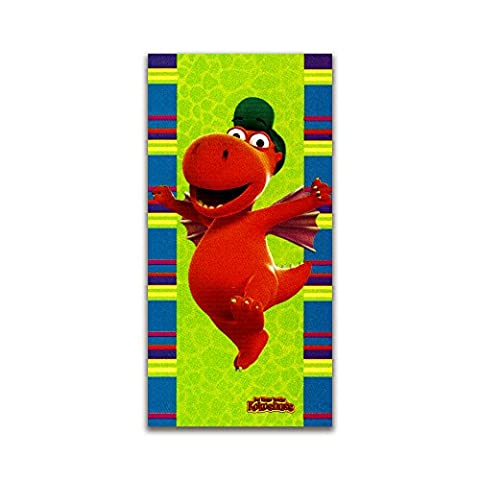 Der kleine Drache Kokosnuss Handtuch Stranddecke Badetuch Velour Strandtuch Comic Cartoon Handtuch Kuschelig Weich Fullprint