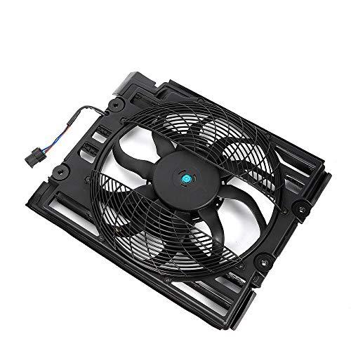 Schwarz Kühler,Lüfter Ventilator Klimaanlage Kondensator für B MW 5 (E39) 1991-4941 ccm, 136, mit Motor und Zarge -