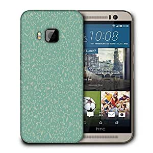 Snoogg Blue Pattern Printed Protective Phone Back Case Cover For HTC One M9