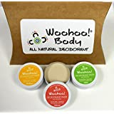 Woohoo! Body All-Natural Deodorant Paste For Sensitive Skin (Sample Pack Of 3 Scents) - Cruelty Free & Vegan Friendly...