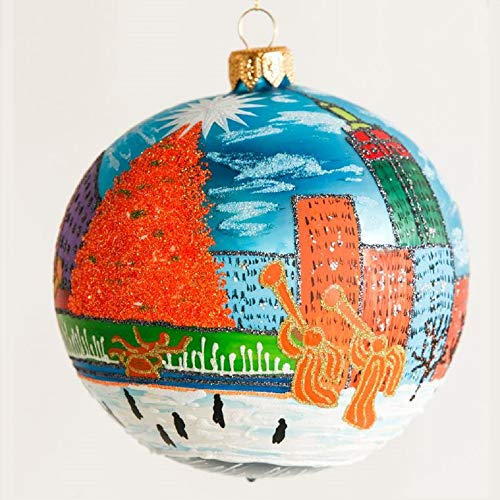 Home and Holiday Shops Manhattan New York Polish Glass Ball Christmas Tree Ornament Made in Poland