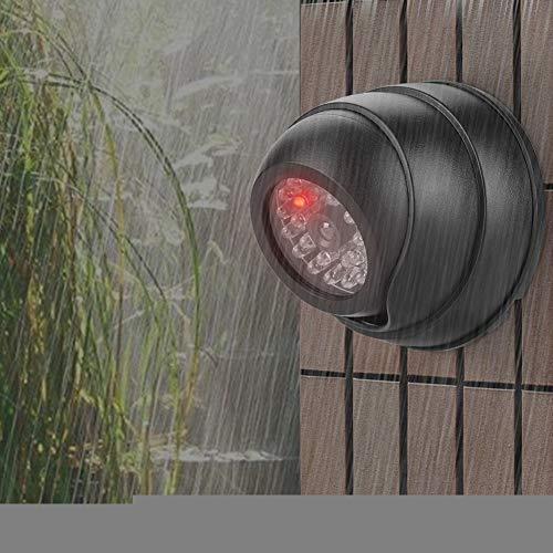 Topiky Dummy Kamera,Blinkende LED wasserdichte Gefälschte Dome WLAN Kamera CCTV Überwachungs Außenkamera Indoor & Outdoor mit 30 Stück IR-LED für Haus/Lager