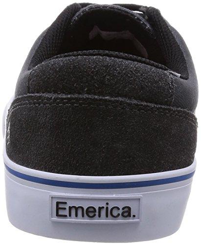 Emerica - Provost Slim Vulc X Toy Machine, Scarpe da skateboard Uomo nero - nero / grigio / nero