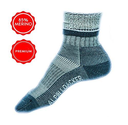 Alpin Loacker Merinowolle Wandersocken Herren Merino Wandersocken aus Österreich 42-45 (Merino Socken Kinder Wolle)