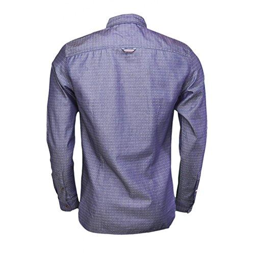 Chemise Tommy Hilfiger Dobby à motifs bleu marine pour homme Bleu
