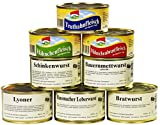 8er Set Wurstkonserven/Fleischkonserven, rd. 2,9 kg, z.B. Hausmacher Leberwurst,...