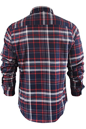 Brave Soul - Chemise casual - Homme Tame - Red/Navy Check