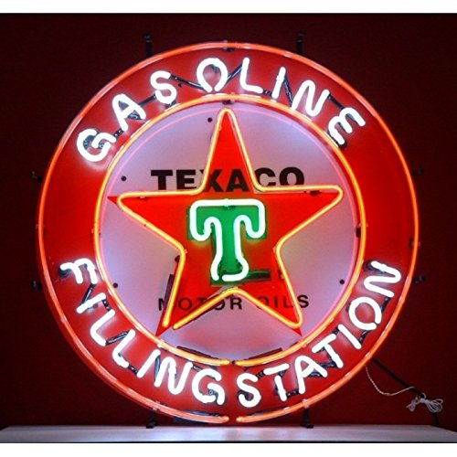 96337027476 hotrodspirit – Neon Advertising Texaco Oil Gasoline Deco Loft Garage USA 7101356677380