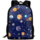 best& Navy Planets Solar System School Rucksack College Bookbag Unisex Travel Backpack Laptop Bag