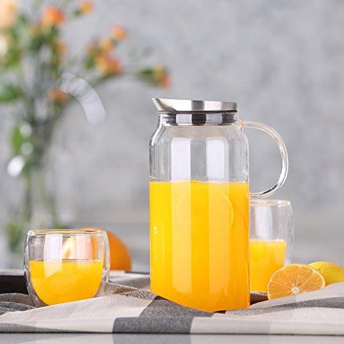 Glaskaraffe: Ecooe Glaskaraffe 1,5 Liter Glaskrug