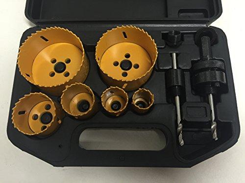 Lochsägen Set Bi-Metall 8-teilig Elektro-Sanitär Ø 22 - 73 mm im Koffer