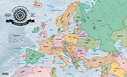 12 95 europakarte zum rubbeln scrape off europe map landkarte deluxe europaweltkarte poster xxl. Black Bedroom Furniture Sets. Home Design Ideas