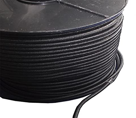 5Meter, 6mm schwarz Elastic Bungee Seil Shock Cord Tie Down