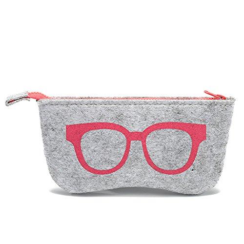 Oyfel Gläser Case Soft Schlüsselanhängerform Faltbar Sonnenbrille Aufbewahrungsbox Triangle Eyewear Tragetasche Schutz Reißverschluss