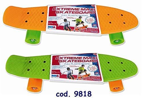 RSTA Skate Plastic 57X15 cm Skateboard Sport Game Sport Toy 431, Multicoloured, 8004817098184