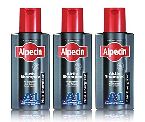 3er Aktiv Shampoo A1 Hair Energizer Alpecin bei normaler bis trockener Kopfhaut 250 ml