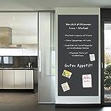 Multifunktions - Tafelfolie Selbstklebend Memoboard | inklusive Kreide | 45x200cm | schwarz