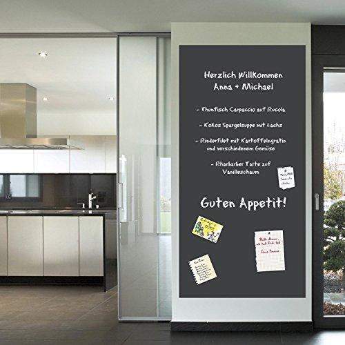 Multifunktions - Tafelfolie Selbstklebend Memoboard   inklusive Kreide   45x200cm   schwarz