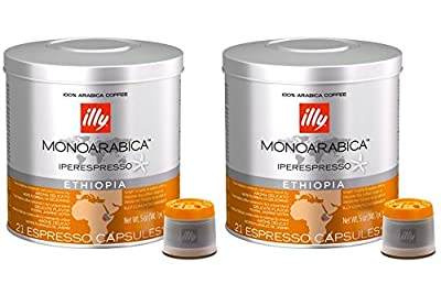 Illy Coffee Iperespresso Ethiopia - Set 2 cans of 21 capsules each