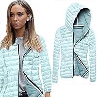 Sannysis chaquetas de mujer abrigo de invierno con capucha (Verde, XL)