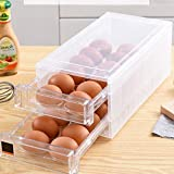 Gaocunh Cajón Huevo Caja de almacenamiento, plástico transparente Huevo Contenedor de...