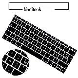 HBFCESXF MacBook French Keyboard Film 11 12 13,3 Zoll Air Pro French Phonetische Tastatur Schutzfolie, bunt