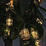 Prevently 250 LEDs Holzlaternen Warm White String Lights Festival Decor Wasserdicht Außenbeleuchtung für Garten, Party, Hochzeit, Weihnachten (Yellow)