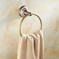 Comparador de precios WP accesorios de baño de cobre antiguo/Todo anillo de cobre-toalla/Azul y grueso anillo de toalla chasis blanco/anillo colgante toalla - precios baratos