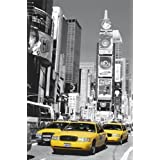 1art1 - Póster gigante (175 x 115 cm), diseño de Times Square con taxis amarillos