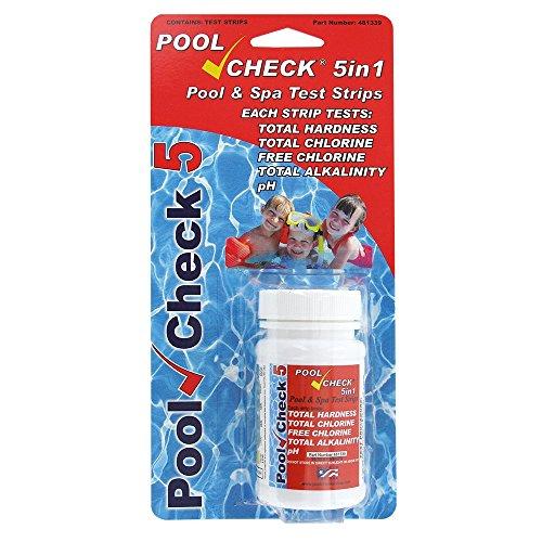 Preisvergleich Produktbild Pool Check pool, SPA, Whirlpool Teststreifen 5in 1(Härte, Total und freies Chlor, Alkalinität)