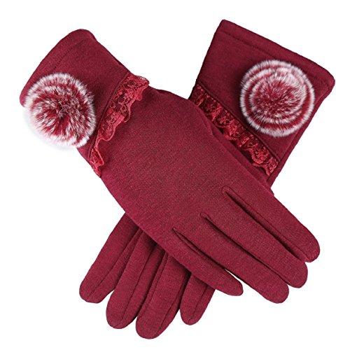 Heekpek guanti donna guanti da donna touch screen invernale eleganti guanto invernale guanti outdoor caldo guanti