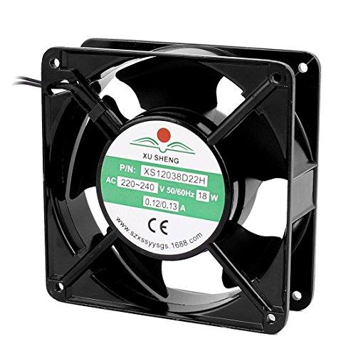 sourcingmap® AC 220V-240V 0.12-0.13A 120mmx120mmx38mm 5 paletas de ventilador del radiador de...