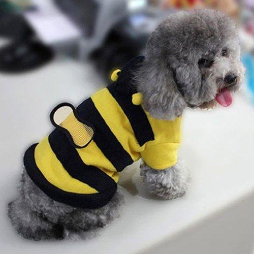 Xl Hunde Biene Kostüm - KeKeandYaoYao Hunde-Kostüm mit Kapuze, Bienen-Stil, XXXL