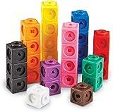 Learning Resources- Cubos Mathlink (Set de 100), Color (LER4285)