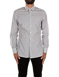UCM608FUMO Prada Chemises Homme Coton Gris
